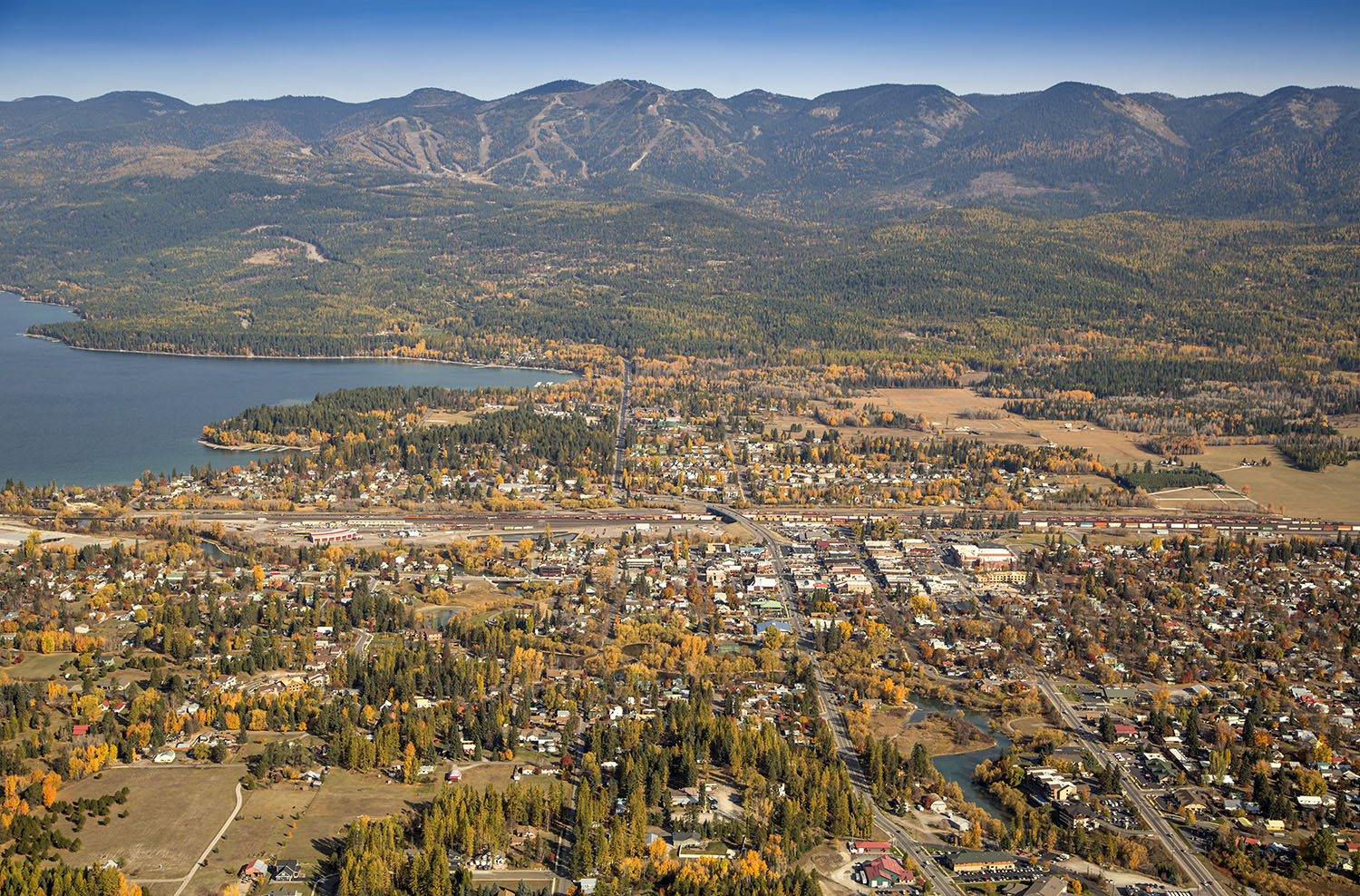 Whitefish Aerial View