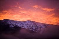 Morning Color Columbia Falls Winter Sunrise