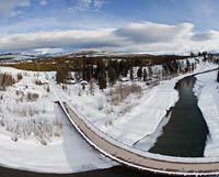 North Entrance to Glacier Park Glacier Park Winter Panoramic360