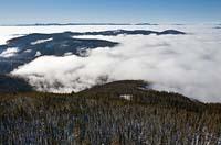 Inversion Lakeside, MT Winter Aerial