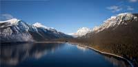 Lake McDonald Glacier Park Winter Panoramic