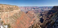 Panoramic from the South Rim Grand Canyon Winter Rivers