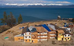 Waterside Construction Lakeside, MT Spring Aerial