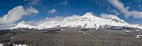 Continental Divide East Glacier Winter Aerial