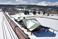 East Glacier Winter Aerial