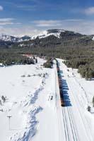 Glacier Park Winter Aerial