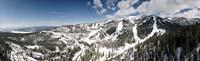 Big Mountain Winter Aerial