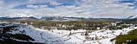 Polebridge, MT Glacier Park Winter Aerial