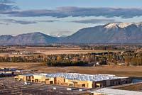 Walmart at Hutton Plaza Ranch Kalispell, MT Spring Aerial