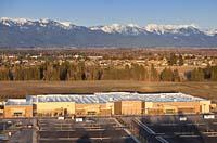 Walmart Construction Kalispell, MT Spring Aerial