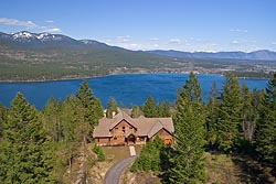 Whitefish Lake, MT Spring Aerial