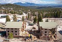 Alpinglow Demolition Big Mountain Spring Aerial