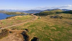 Flathead Lake Spring Aerial