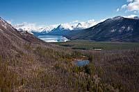Lake McDonald West Glacier, MT Spring Aerial