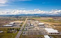 Hutton Plaza Ranch Kalispell, MT Spring Aerial