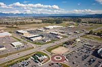 Hutton Plaza Kalispell, MT Spring Aerial