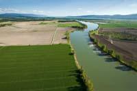 Flathead River Flathead River Spring Aerial