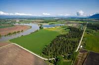 Riverside Road Flathead River Spring Aerial
