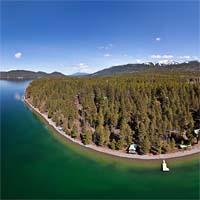 Whitefish Lake Panoramic Whitefish Lake, MT Spring Panoramic360