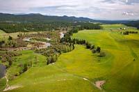 Stillwater Winding Stillwater River Spring Aerial