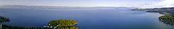 Flathead Panoramic Flathead Lake Spring Aerial