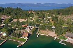Woods Bay Marina Flathead Lake Spring Aerial