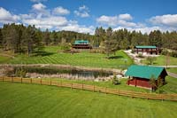 Amen Ranch Lakeside, MT Spring Aerial
