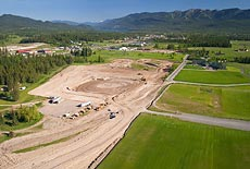 Whtiefish Hospital Develoopment Whitefish, MT Spring Aerial