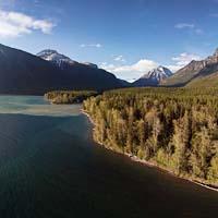 Lake McDonald West Glacier, MT Spring Panoramic360