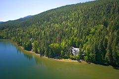 Swan Lake Spring Aerial