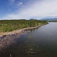 Whitefish Hills access on Blanchard Lake Blanchard Lake Spring Panoramic360