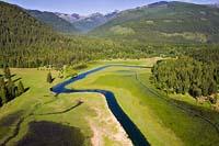 Bull River Bull River Summer Aerial