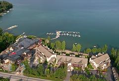 Whitefish Lake, MT Spring Aerial