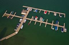 Whitefish Marina Whitefish Lake, MT Spring Aerial
