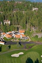 Eagle Bend Golf Course BigFork, MT Spring Aerial