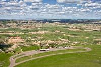 Medora Visitors Center Medora, ND Summer Aerial