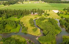Whitefish River Summer Aerial