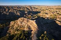 Makoshika State Park Glendive Summer Aerial