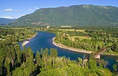 Flathead River Flathead River Summer Aerial
