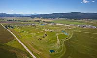 The Event at Rebecca Farm Kalispell, MT Spring Aerial