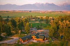 Mission Mountains St. Ignatius Summer Aerial