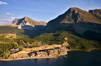 Many Glacier Hotel Many Glacier Summer Aerial