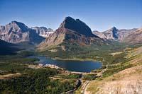 Glacier Park Summer Aerial