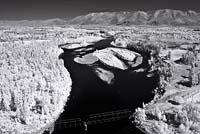 Infrared Aerial Kalispell, MT Summer Infrared
