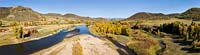 Yampa River Log House Steamboat Springs Fall Aerial
