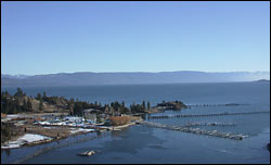 Flathead Lake Yacht Club sleeps in the winter