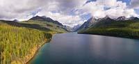 Glacier Park Fall Aerial