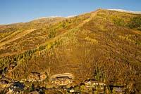 Steamboat Ski Resort above Ski Trail Lane Steamboat Springs Fall Aerial