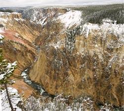 Yellowstone Canyon Yellowstone Park Fall Landscape