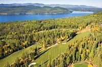 Whitefish Lake, MT Fall Aerial